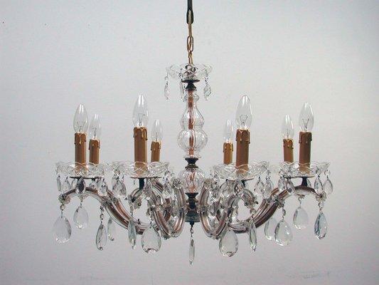 Kronleuchter Ohne Kristall ~ Italienischer kronleuchter mit 8 leuchten aus messing & kristall