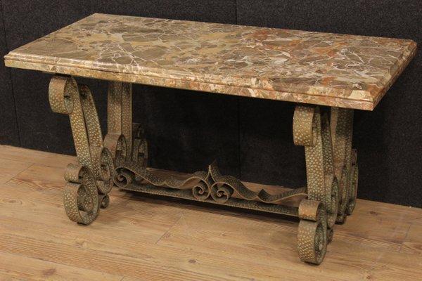 Niedriger Vintage Marmor Tisch Aus Italien Bei Pamono Kaufen