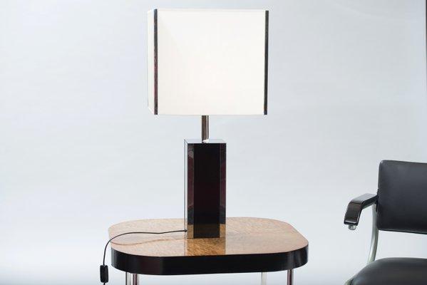 Lampes de bureau en formica et en chrome france set de en