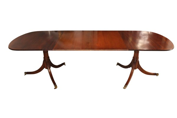 English Hepplewhite Mahogany Dining Table, 1920s