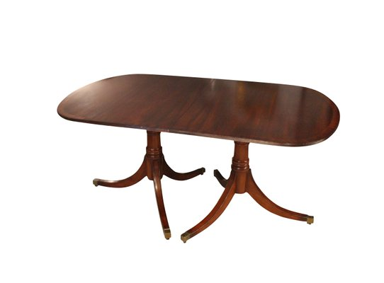 English Hepplewhite Mahogany Dining Table 1920s 1