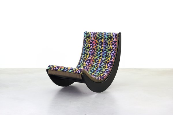 vintage relaxer rocking chair by verner panton for rosenthal for