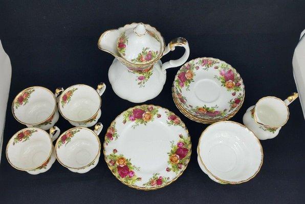 Tea sets royal albert china Rare Art