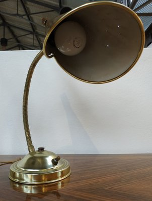 Brown Metal Desk Lamps With Gooseneck, Metal Desk Lamps Uk