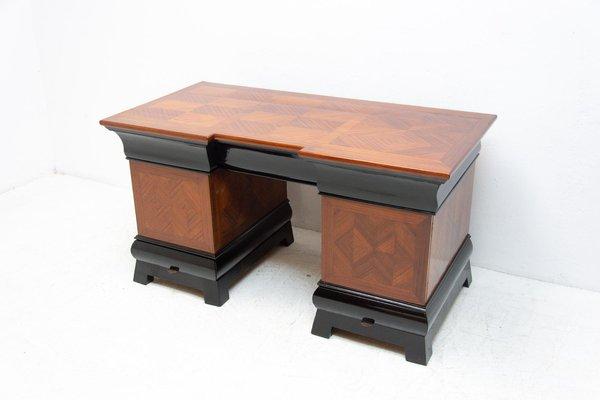 Art Deco Writing Desk Bohemia 1930s, Art Deco Style Writing Desk