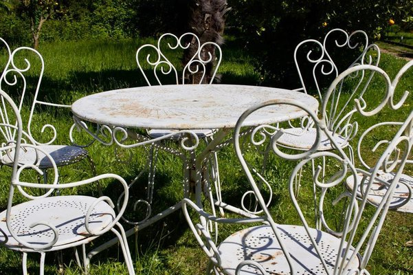 French Garden Table And 6 Chairs Set, French Outdoor Furniture