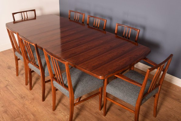 Mahogany Rio Rosewood Burford, Wooden Dining Room Table And 8 Chairs
