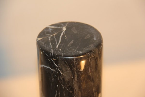 Mid Century White Veined Black Marble Vase For Sale At Pamono