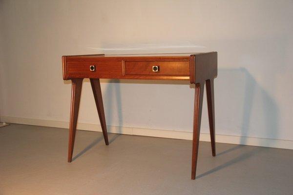 Mid Century Italian Desk With White Top 1950s 1