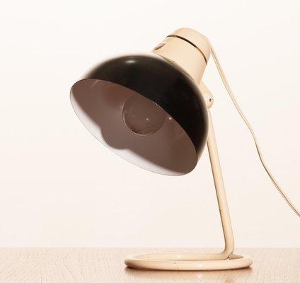 Metal Desk Or Table Lamp In Off White, Black Metal Desk Lamps