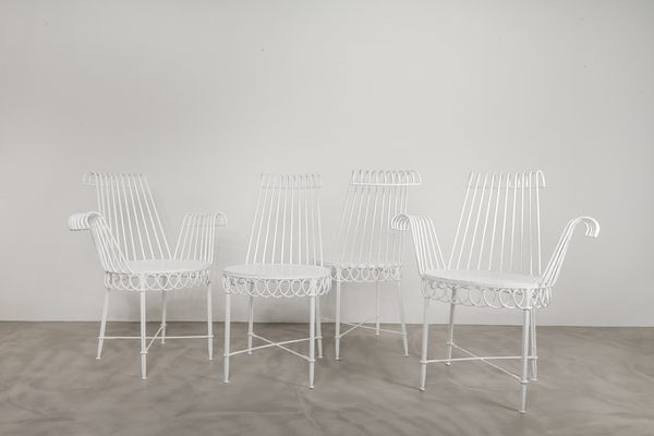 Chaises de Jardin Cap D\'Ail par Mathieu Mategot, 1950s, Set de 4 en ...