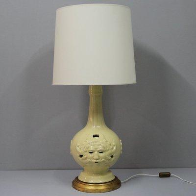 vintage de cerámica mesa de Lámpara de Manises grande española VSMLUGjqzp