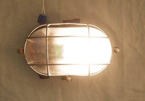 Lampada da parete o da soffitto industriale in bachelite 1948 in