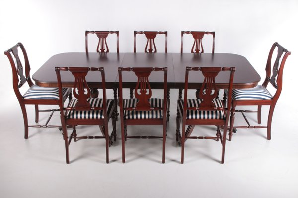 Queen Anne Style Mahogany Dining, Queen Anne Style Dining Room Set