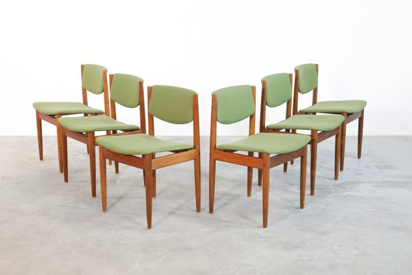 Danish Dining Chairs By Finn Juhl For France Son 1960s Set Of 6 For Sale At Pamono
