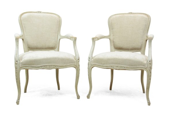 antique louis xv style chairs 1900s set of 2 for sale at pamono