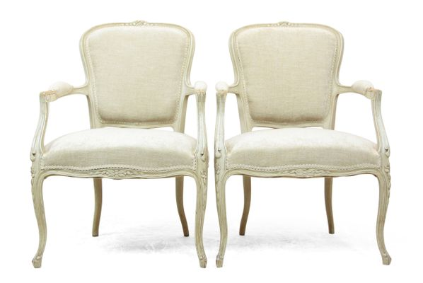 Antique Louis XV Style Chairs, 1900s, Set Of 2 12