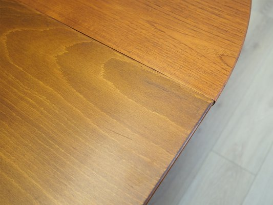 Round Teak Table Denmark 1970s For At Pamono - How To Fix A Split Table Top