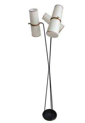 Lampadaire Avec Trois Lampes De Lunel 1950s En Vente Sur Pamono