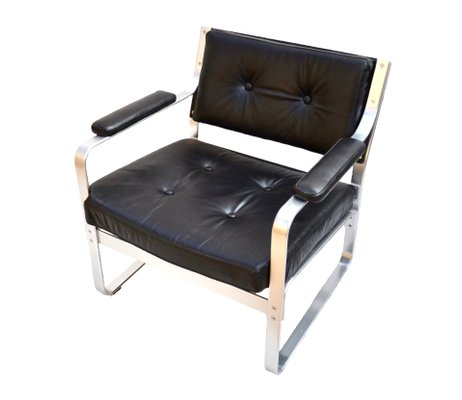 Brilliant Vintage Black Leather And Aluminium Mondo Lounge Chair By Karl Erik Ekselius For Joc Vetlanda Inzonedesignstudio Interior Chair Design Inzonedesignstudiocom