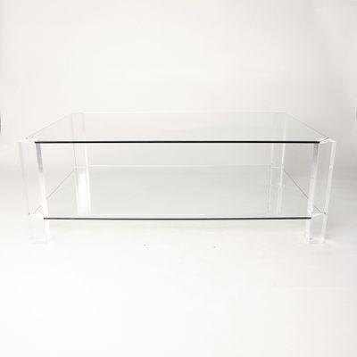 Glas Plexiglas Couchtisch Von Andrew Sarah Hills Fur Porta