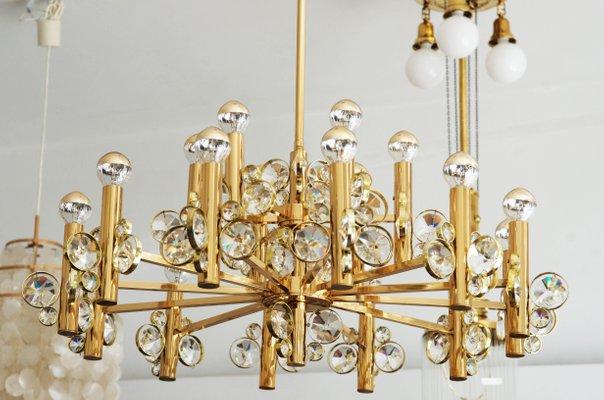 Kronleuchter Gold Kristall ~ Großer kristall kronleuchter er bei pamono kaufen