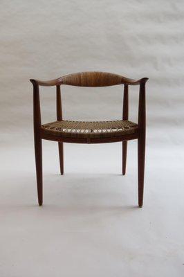 Mid Century JH 501 The Chair By Hans J Wegner For Johannes Hansen 1