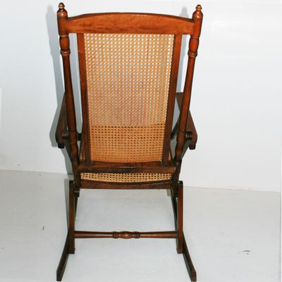 Vintage Folding Rocking Chair 3 - Vintage Folding Rocking Chair For Sale At Pamono