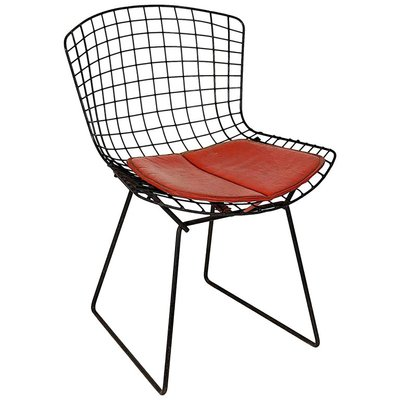 vintage black bertoia chair by harry bertoia for knoll for sale at