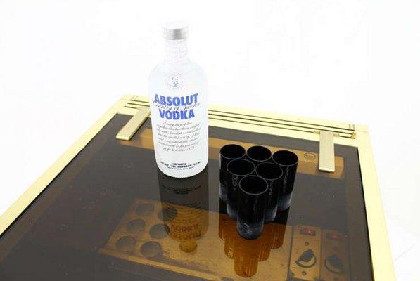 Vintage french office mini cooler vodka bar from maison jansen