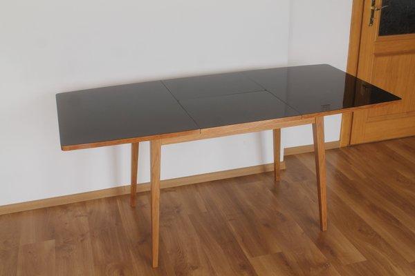 Table De Salle A Manger Haute Brillance Mid Century Par Lejkowski Lesniewski Pour Bydgoszcz Furniture Factory