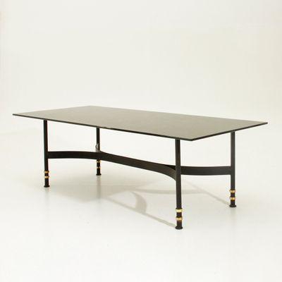 Table Basse Peinte En Verre Italie 1950s