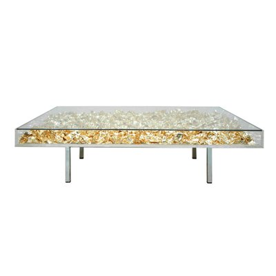 Table Basse Monogold Par Yves Klein France 2000s Les Exceptionnels