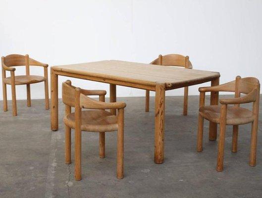 Vintage Pine Dining Set by Rainer Daumiller for Hirtshals Savvaerk