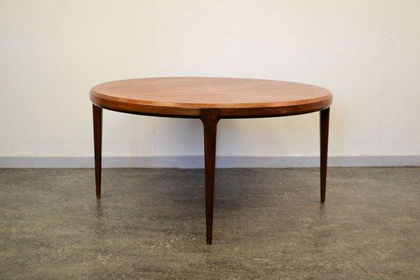 Round Teak Coffee Table By Johannes Andersen For Silkeborg Møbelfabrik 1