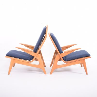 Vintage Easy Chairs from De Ster Gelderland, 1960s, Set of 2 1 - Vintage Easy Chairs From De Ster Gelderland, 1960s, Set Of 2 For