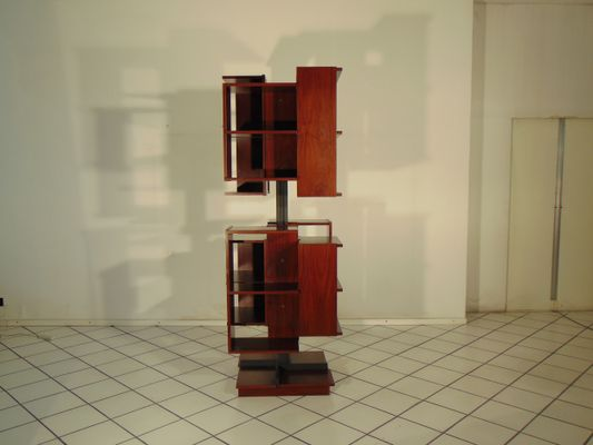 Centro Rotating Bookshelf by Claudio Salocchi for Luigi Sormani, 1970s