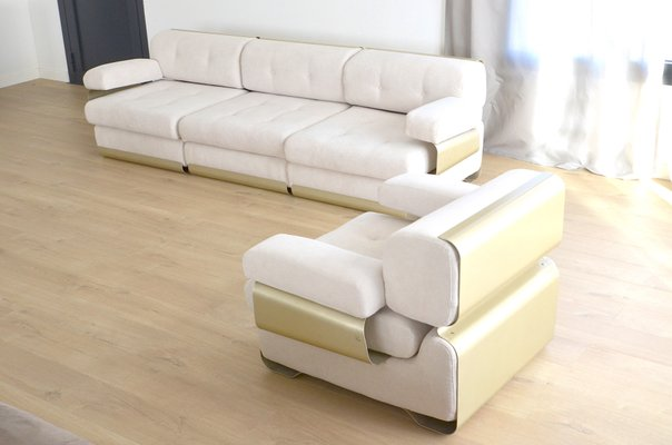 Vintage Sofa Armchair Set By Gian Pierro Arosio For D A S