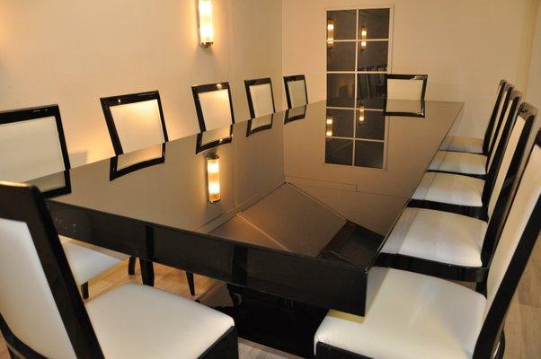 Juego De Mesa Comedor.De 12 Comedor Art Con A Sillas Juego Mesa Deco Wokilxutzp