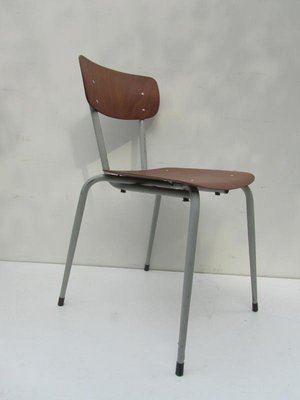 Vintage Industrial Stackable Pagholz School Chair, 1960s
