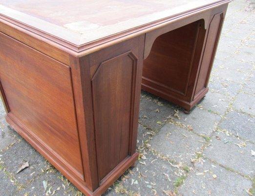 Bureau et chaise style colonial vintage en bois sculpté set de 2 en