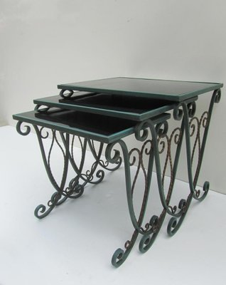 French Wrought Iron Nesting Tables Set Of 3 For Sale At Pamono