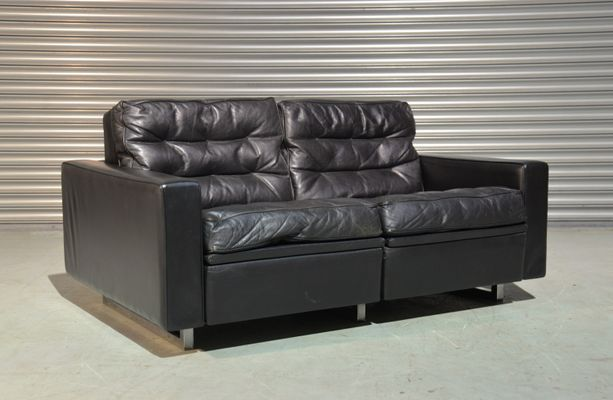 Model DS 3A Vintage Reclining Two Seater Sofa By De Sede, 1970s
