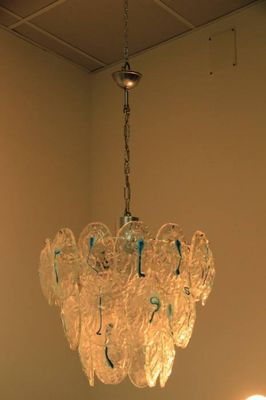 Murano Glass Ceiling Lamp from Vistosi, 1960s for sale at Pamono