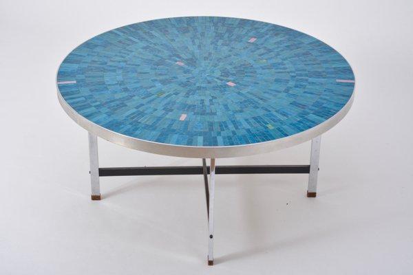 Table Basse Bleue en Mosaïque de Berthold Müller-Oerlinghausen ...