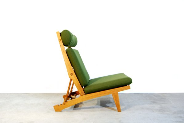 Danish Ap71 Folding Lounge Chair By