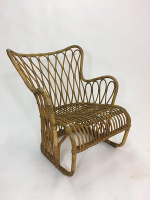 Swedish Rattan Lounge Chair, 1950s 1