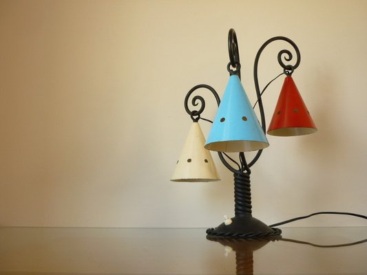 Mid Century Cast Iron Table Lamp 1930s For Sale At Pamono