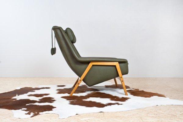 Peachy Scandinavian Modern Green Leather Lounge Chair By Folke Ohlsson For Fritz Hansen 1960S Dailytribune Chair Design For Home Dailytribuneorg