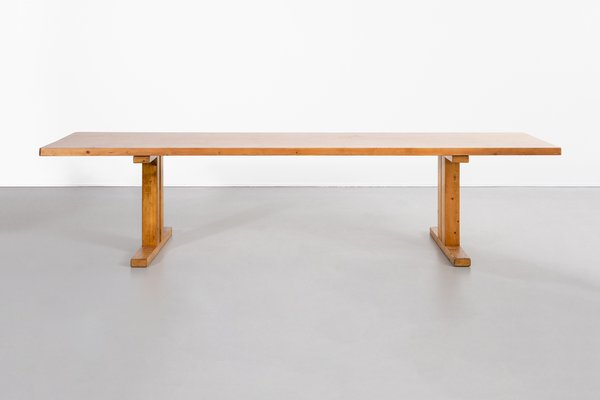 French Long Table By Charlotte Perriand For Les Arcs 1960s For